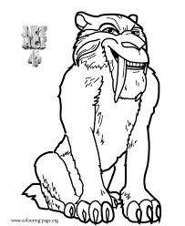 Small Picture Ice Age Diego Ice Age 4 Continental Drift coloring page