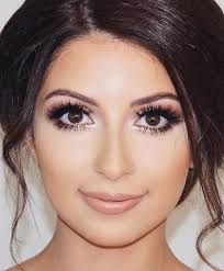 wedding makeup ideas for brides smoky rosey look romantic make up ideas for the wedding natural and airbrush techniques that look great with blue