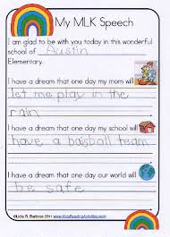 mlk writing paper classroom bies template and students classroom bies i have a dream speech template for elementary students