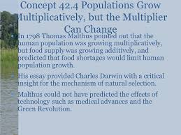 populations chapter ppt  concept 42 4 populations grow multiplicatively but the multiplier can change