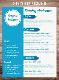 Designer Resume Templates 21 Stunning Creative Resume Templates Templates