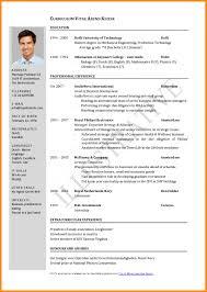 Vita Resume Template Best Cv Template Word Curriculum Vitae Resume