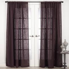 saro nali collection rod pocket semi sheer window curtain panel chocolate 54 inches wide