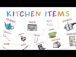 Kitchen Articles Chart Learn Kitchen Item Names For Kids Kids Learn About Kitchen
