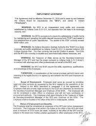 Employment Agreement Contract Awesome Jim Holden Contract With Indiana Board For Depositories
