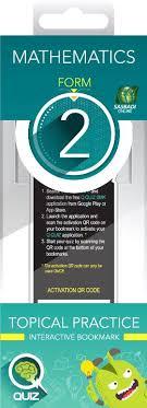Mphonline Q Quiz Mathematics Form 2 Interactive Bookmark