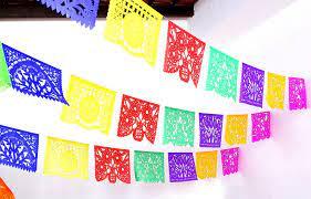 Mexican Papel picado, 16 feet, Fiesta ...