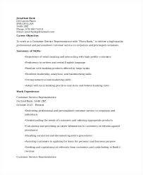 Bank Resume Template Retail Banking Customer Service Resume Bank