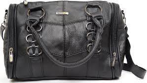 las soft leather handbag shoulder bag black