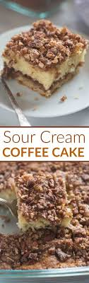 Sprinkle the bottom of the pan with 1 tablespoon of flour and tap out the excess. Sour Cream Coffee Cake Tastes Better From Scratch