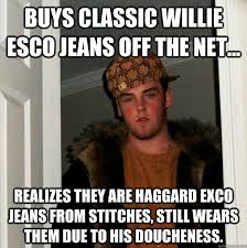 Buys classic Willie Esco jeans off the net... realizes they are ... via Relatably.com