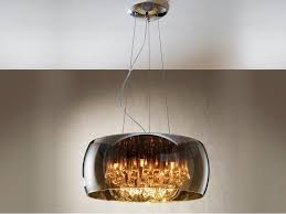 argos 6 light ceiling pendant light with shimmered glass shade 508111