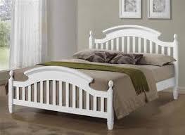 Wooden bed base King Size Image Is Loading Zarasolidwhitewoodenbedframeinsingle Ebay Zara Solid White Wooden Bed Frame In Single Double Or Kingsize Ebay
