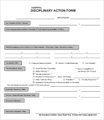 Disaplinary Forms Disciplinary Action Form 20 Free Word Pdf Documents Download