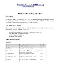 education vocabulary for ielts postgraduate education academic education vocabulary for ielts postgraduate education academic degree
