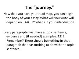 "the most important part of any essay ppt video online  7 the ""journey"