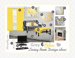 Yellow Decor For Living Room Yellow And Grey Living Room Interior Design Idea Inspiration Gray