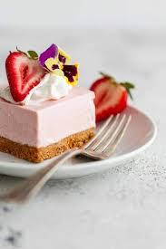 No Bake Strawberry Cheesecake Recipe Bars