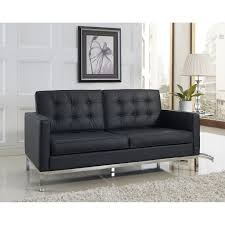 Florence Knoll Design Style Knoll Style Leather Loveseat Leather Loveseat Best