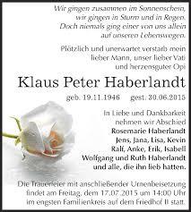 Traueranzeigen von Klaus Peter Haberlandt | www.abschied-nehmen.de