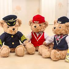 1pc <b>25cm Cute</b> Pilot Teddy <b>Bear</b> Plush Toy Captain <b>Bear</b> Doll ...