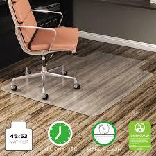 chair mat with lip. Deflecto EconoMat 45 X 53 Chair Mat For Hard Floor, Rectangular With Lip O