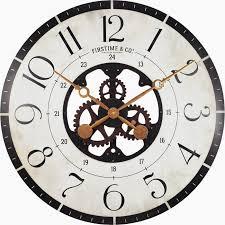 gear wall clock oversized wall clock