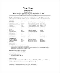 Audition Resume Templates Sample Theater Resumes Magdalene Project Org