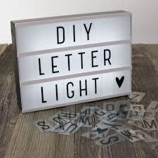 diy cinematic light up sign box cinema led letter lamp home decor party