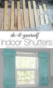 indoor window shutters. Tutorial - How To Build Indoor Shutters   Aqua Lane Designs On Remodelaholic.com # Window T