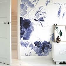 Behang Royal Blue Flowers I Multicolor Vliespapier 3896x280cm In