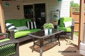 spray painted my patio cushions