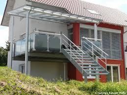 Treppe metall mit podest wpc, 5 stufen + 2 geländer. Pfeffer Metalltechnik Treppen