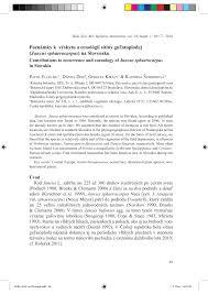 (PDF) Poznámky k výskytu a cenológii sitiny guľatoplodej (Juncus ...