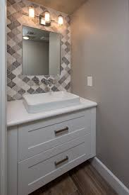 bathrooms remodel. tempe bathroom remodel contractor. floating vanity with quartz countertop and vessel sink by design/build bathrooms