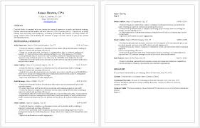 Cover Letter Resume Template Accountant Resume Templates For