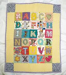16 best Alphabet baby quilt images on Pinterest | Alphabet quilt ... & Alphabet Quilt With Blue Border And Fun Adamdwight.com