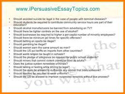 ideas for persuasive essay topics 7 persuasive essay topics for kids address example