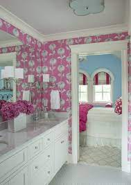 Pink Wallpaper Bathroom ...