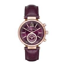 buy michael kors watches online fraser hart michael kors sawyer ladies plum dial rose gold tone chronograph watch