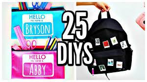 25 diy school supplies back to school 2017 2018
