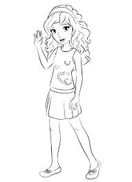 Lego Friends Coloring Pages Getcoloringpagescom
