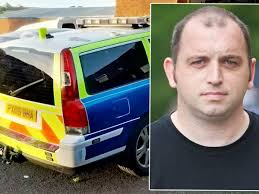 Police Car Lights Uk Motorist Who Drove Fake Police Car With Flashing Lights And