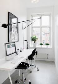 Home office white Stylish Source Pinterest Homemydesigncom 28 White Small Home Office Ideas Home Design And Interior