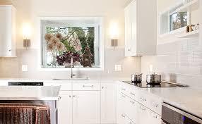 kitchen white glass backsplash. White 4x12 Glass Subway Backsplash Kitchen S