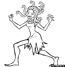 Small Picture Medusa Online Coloring Page