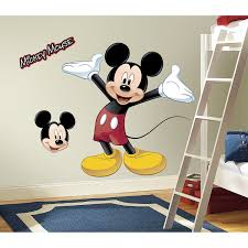 mickey mouse giant wall decal fabulous mickey mouse clubhouse wall decals