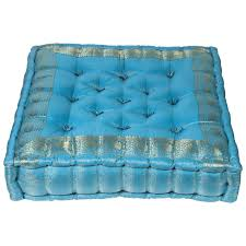 tufted floor pillow.  Pillow Moroccan Oversized Turquoise Tufted Floor Pillow Cushion With H