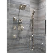 delta t17252 pn brilliance polished nickel tesla pressure balanced shower trim with h2okinetic shower head volume control and monitor technology less