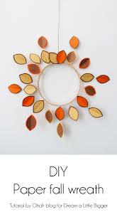 diy paper fall wreath 1